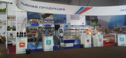Экспозиция выставки Российско-Казахского сотрудничества